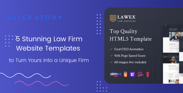 5 Stunning Law Firm Website Templates to Turn Yours into a Unique Firm